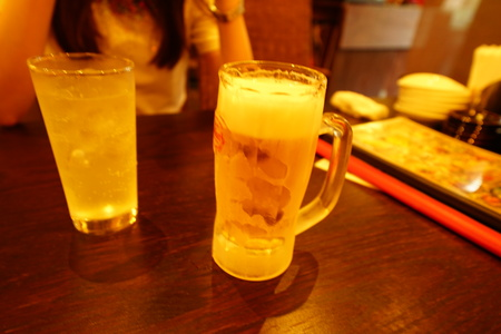 Beer and highball 写真素材