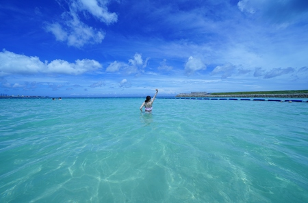Sea of Okinawa and women