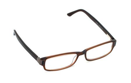 bifocals: Eye glasses isolates on white Stock Photo