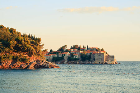 Sveti Stefan, small islet and luxury resort in Montenegro (Crna Gora) photo