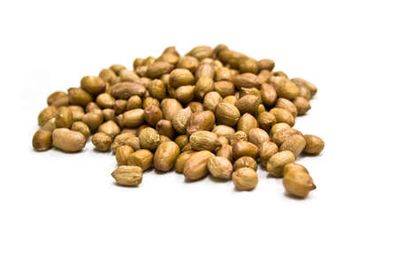 allergic ingredients: Isolated peanuts in the white background Stock Photo