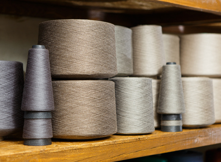 Grey skeins on the shelfs