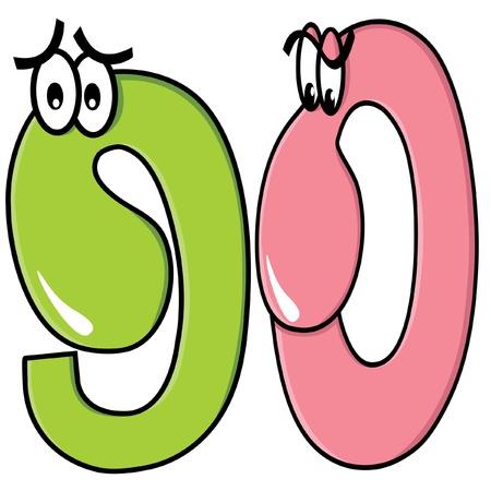 nine and zero