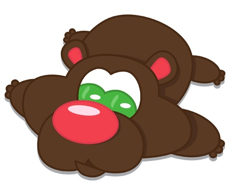 cheeks: funny brown bear Illustration