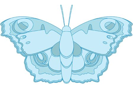 Blue butterfly Stock Vector - 13142303