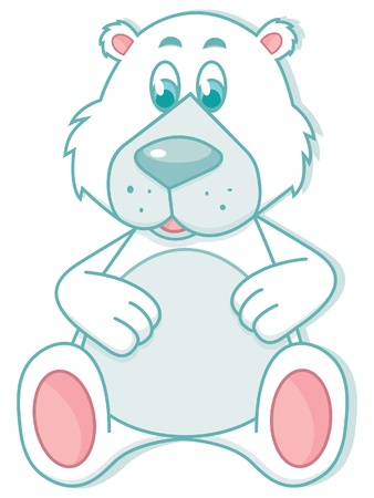 Sitting cartoon polar Teddy bear Stock Vector - 14321880