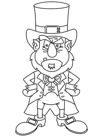 Leprechaun  for coloring book  Illustration