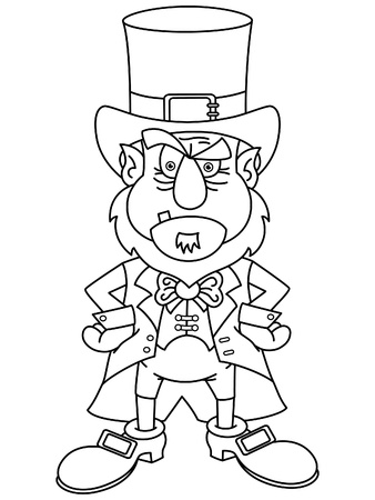 perturbed: Leprechaun  for coloring book  Illustration