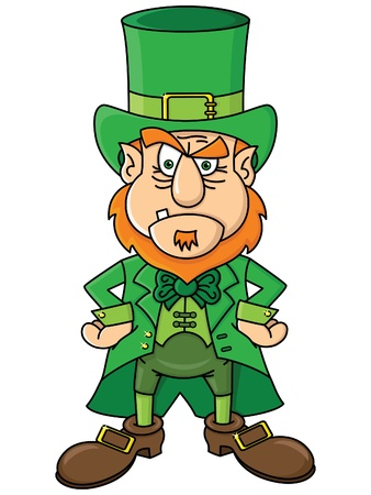 perturbed: Angry Leprechaun Illustration