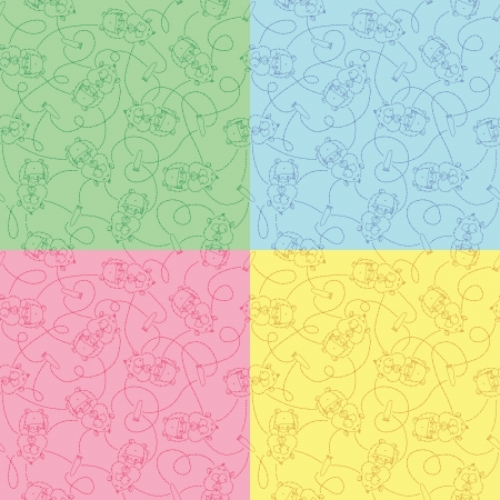 hamsters: Set of seamless funny pattern with hamsters