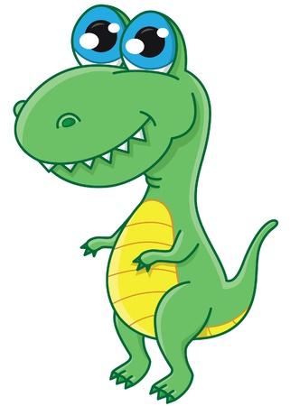 illustration of cute cartoon dinosaur Stock Vector - 15195255