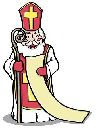 St. Nicholas is reading list Illustration