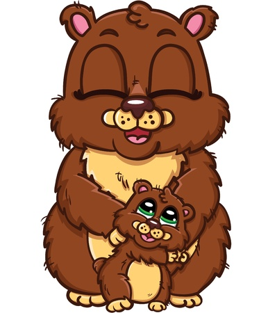 happy family of bears Vector