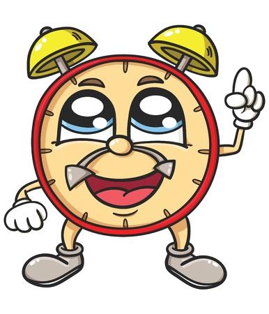 cartoon clock: Alarm clock