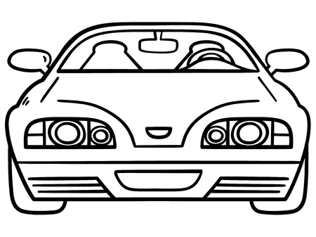 Vector illustration of car for coloring book Vector