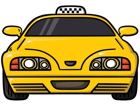 taxi amarillo Ilustración de vector