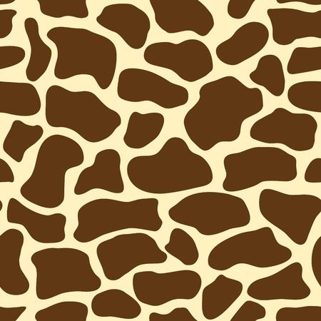 seamless pattern with giraffe skin Illustration