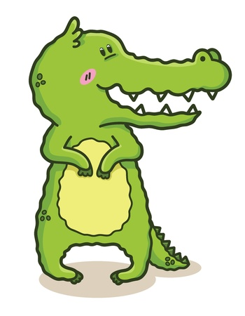 illustration of funny doodle crocodile Stock Vector - 21751590