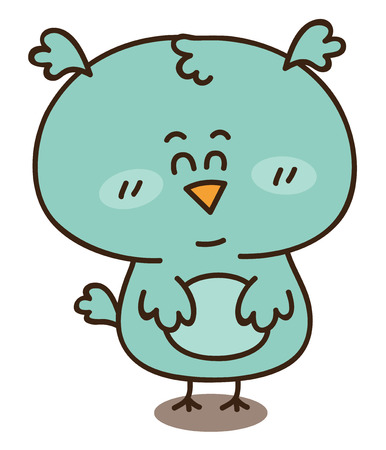 Baby boy owl Stock Vector - 22257553