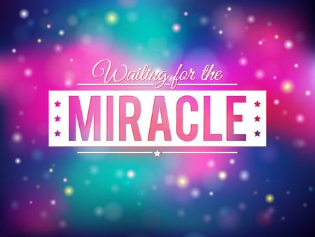 miracle: Colorful shiny miracle background eps10 Illustration