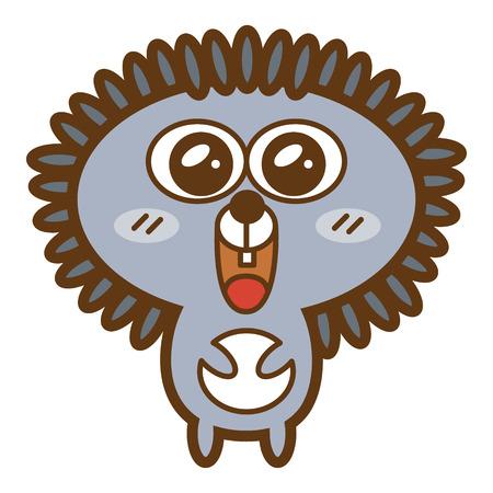 Funny hedgehog  Vector illustration of adorable friendly hedgehog Stock Vector - 24767317