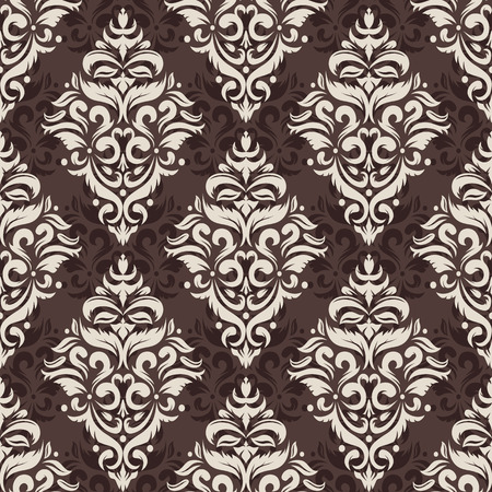 Vector illustration of seamless damask pattern for your design