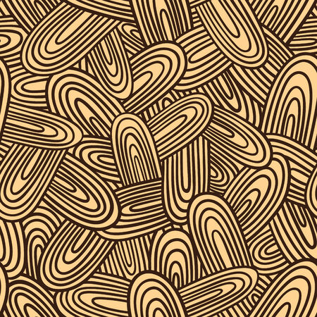 ellipse: doodle pattern   Seamless vector doodle pattern with ellipse waves