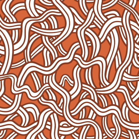 red tangled doodle pattern   Seamless vector doodle pattern with lines  Vector