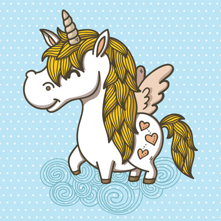 Adorable Unicorn  Vector illustration of an unicorn Illustration