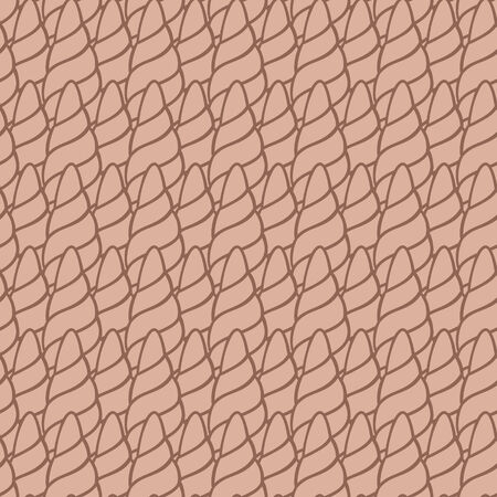 horns doodle pattern   Seamless vector doodle pattern with lines Vector
