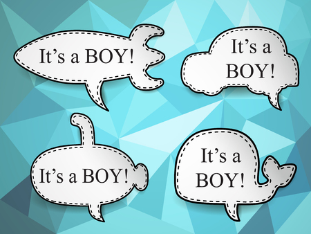 baby boy speech bubbles Vector