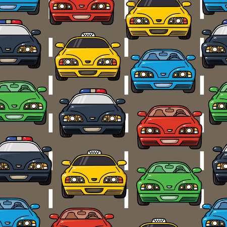 colorful transportation pattern  Vector