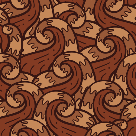 doodle hair pattern   Seamless vector doodle pattern with detailed waves Vector