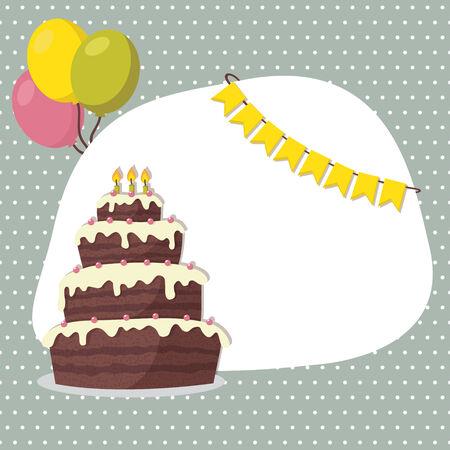 Birthday invitation card for boy  Vector