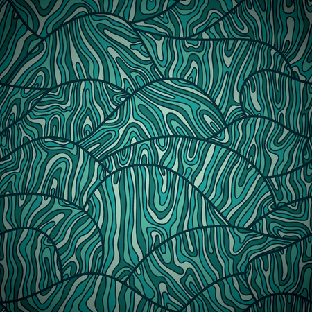 doodle waves pattern   Seamless vector doodle pattern with waves Vector
