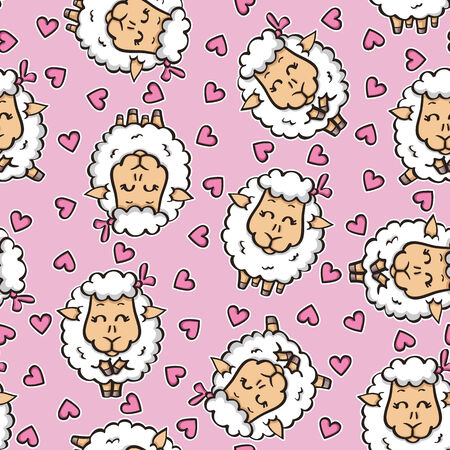 funny baby pattern.  Vector