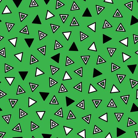 Simple abstract pattern. Vector seamless pattern with triangles