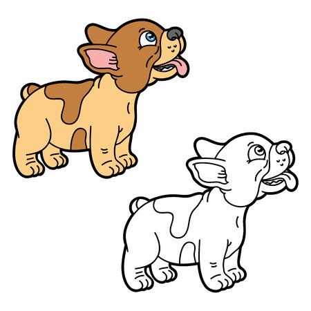 Bulldog Francés Ilustración De Dibujos Animados De Lindo Bulldog ...