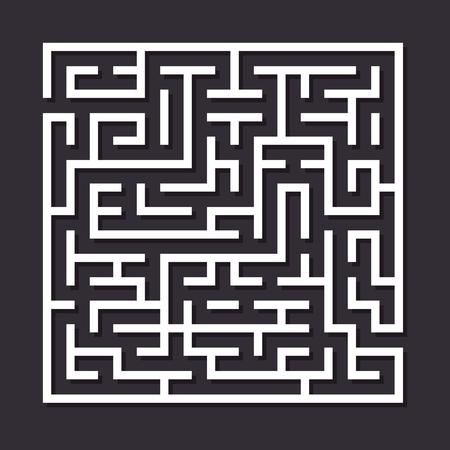 laberinto: Laberinto laberinto de papel. Ilustraci�n vectorial de simples laberinto con algunos caminos equivocados y uno de salida