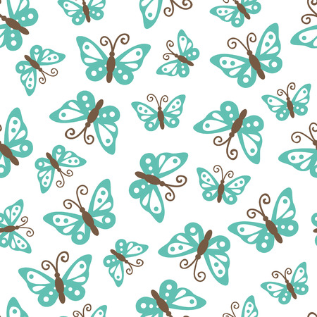 butterflies pattern. vector seamless pattern with cute butterflies  for wallpapers, scrapbooking, web page backgrounds