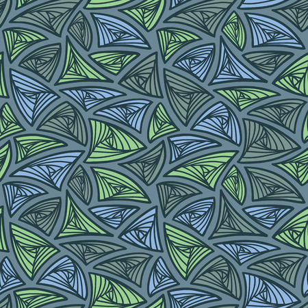 tangle: abstract pattern. vector seamless pattern with hand drawn tangle figures