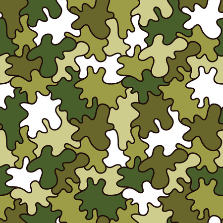 camouflage pattern: military pattern. Vector seamless cartoon hand drawn camouflage pattern for baby shower Illustration
