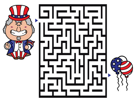 Uncle Sam game. Vector