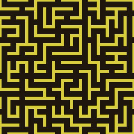 Maze labyrinth pattern.  Illustration