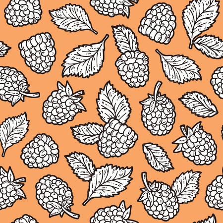 scrap book: cute berries pattern. Vector doodle seamless pattern with berries for wallpaper web page background surface textures textile scrap book design fabric menu
