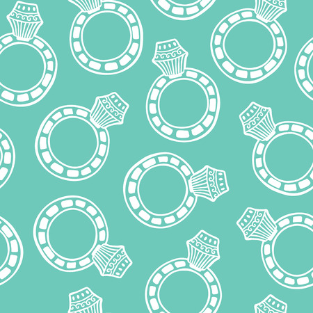 ring pattern. vector seamless pattern with hand drawn ornate doodle object