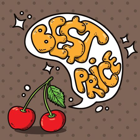 text bubble vector: berries and speech bubble. Vector illustration of berries with speech bubble for your text