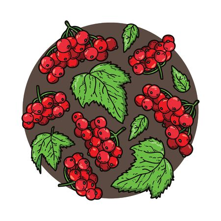 cute circle. vector illustration of circle, consist of berries and leaves