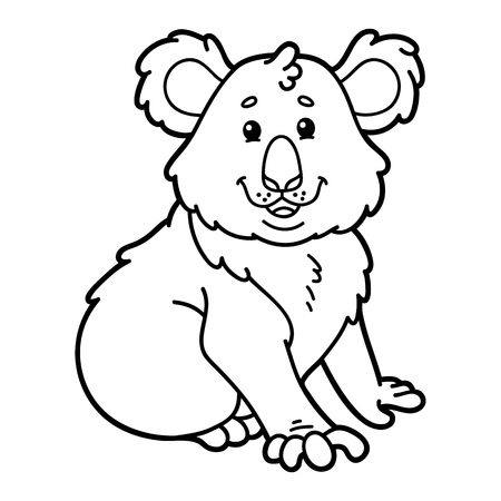 scrap book: Cute koala.  illustration of cute cartoon koala character for children, coloring and scrap book Illustration