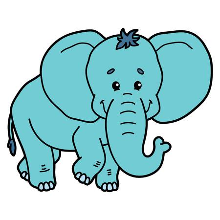 scrap book: Cute elephant. illustration of cute cartoon elephant character for children and scrap book